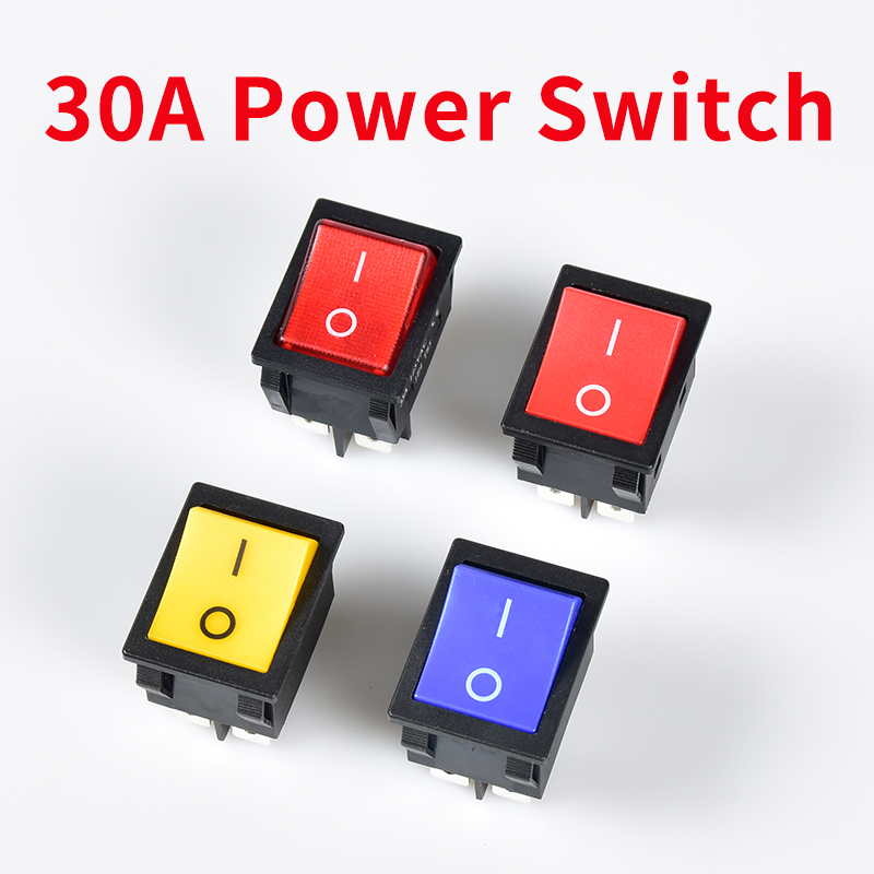 Inverter Electric Welding Machine KCD4 Rocker Switch ON-OFF 2 Position 4 Pins Power Switch 30A/250VAC Electrical Equipment