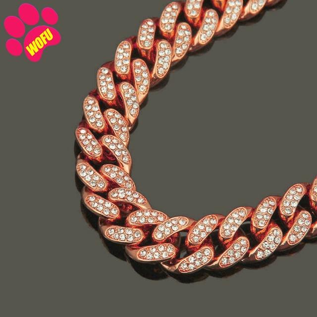 Pink Diamond Stainless Steel Blinggy Pet Collar  6