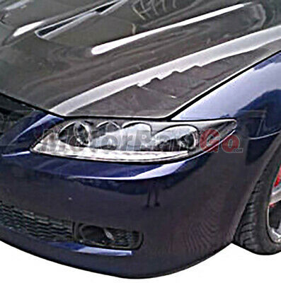 Real Crabon Fiber Head light Eyelid Eyebrow Cover Trim 1pair for Mazda 6  M6 sport  2003-2008 T198 1