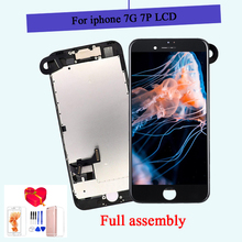 For iPhone 7/7 Plus LCD Full Assembly Complete AAA+ LCD With 3D Touch Screen Replacement Display for iphone 7/7Plus LCD Camera ipartsbuy for iphone 7 lcd backlight plate