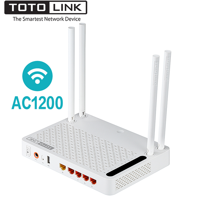 TOTOLINK A3002RU AC1200 Wireless Router Smart Dual Band 2.4GHz/5.0GHz Gigabit <font><b>Wifi</b></font> Router Wireless Repeater,Russian firmware image