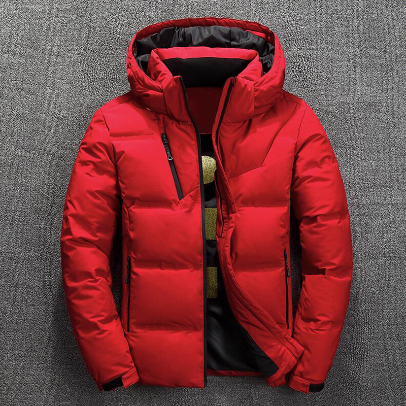 Winter Hooded White Duck Down Jacket Thick Coats Down Jacket Mens Coats Parkas Warm Down Jackets