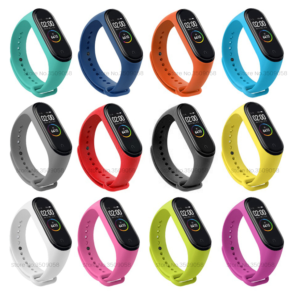 Mi Band 4 Strap For Xiomi Xiaomi Mi Band 2 3 4 Strap Band2 Band3 Band4 Straps Silicone Smart Wristbands Replacement Accessories