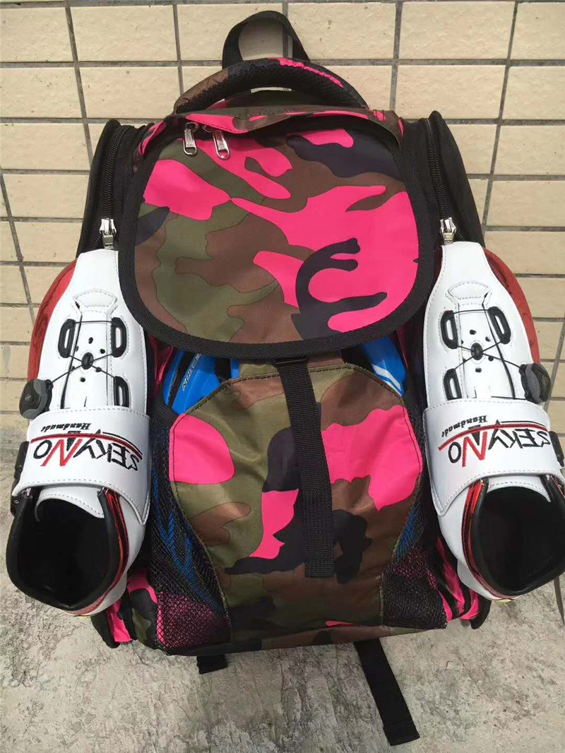 Speed Bag For Inline Speed Skates Shoes 4X90mm 4X100mm 4X110mm 4 Wheels Roller Skates Shoes Container Carry Backpack Camouflage