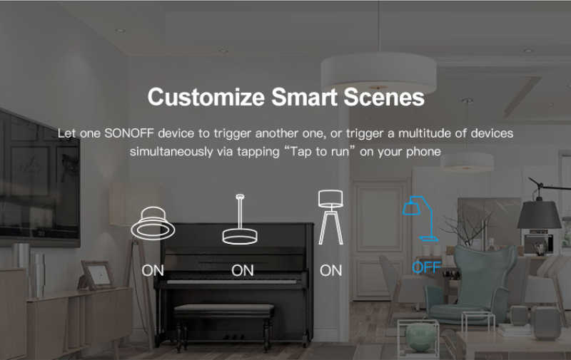 SONOFF MINI DIY interruptor inteligente temporizador control remoto por eWeLink/Wifi compatible con un interruptor externo funciona con Alexa Google casa IFTTT
