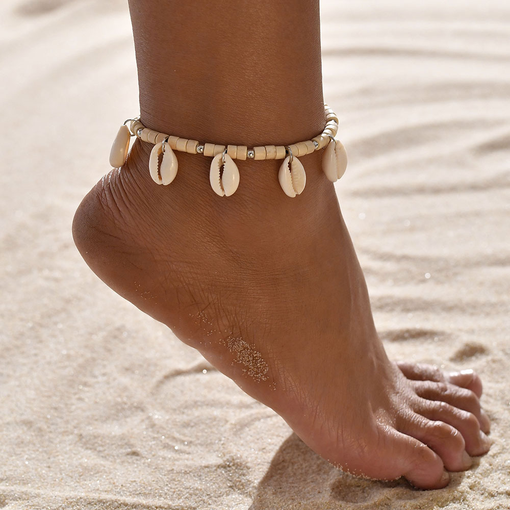 bohemian jewelry foot jewelry shell anklet foot accessories jewelry for feet boho beach braided rope jewelry for feet