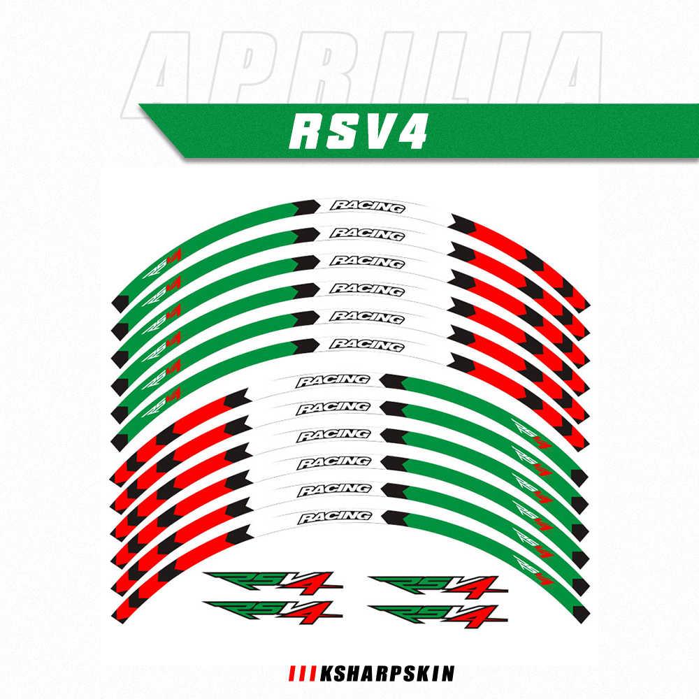 Наклейки для внешнего обода мотоцикла, наклейки для колес, отражающие наклейки для шин, наклейки для APRILIA RSV4 R/RR RSV4 RFW RSV4 RF rs v4
