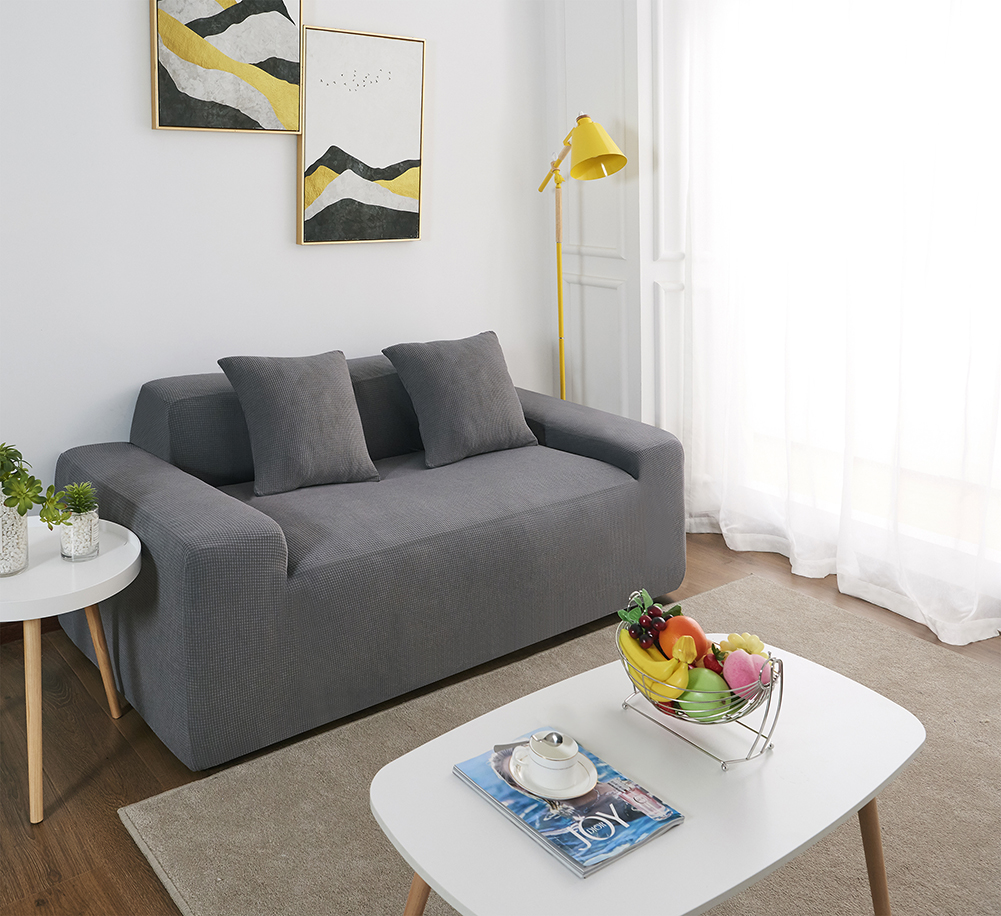 MEIJUNER Waterproof Sofa Cover in Solid Color with High Stretchable Slipcover for Dining Room 15