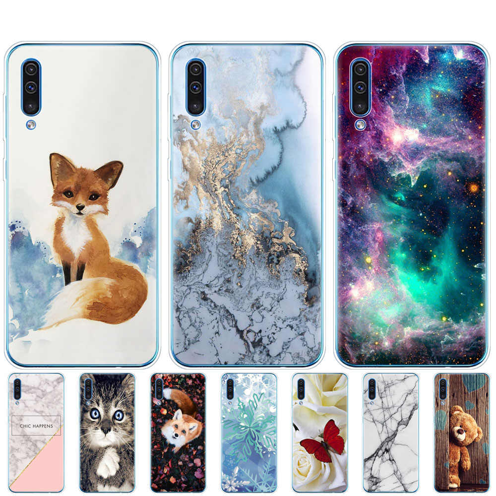 Coque For Samsung Galaxy A50 Case bumper Silicone Transparent Back Cover Phone For Samsung A50 A505 A505F SM-A505F Soft Case 6.4
