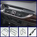 Автомобильная Панель навигации, воздушная крышка, наклейка из углеродного волокна, редукторные полосы для Audi A6 C7 A7 2012-2018, аксессуары для инт...