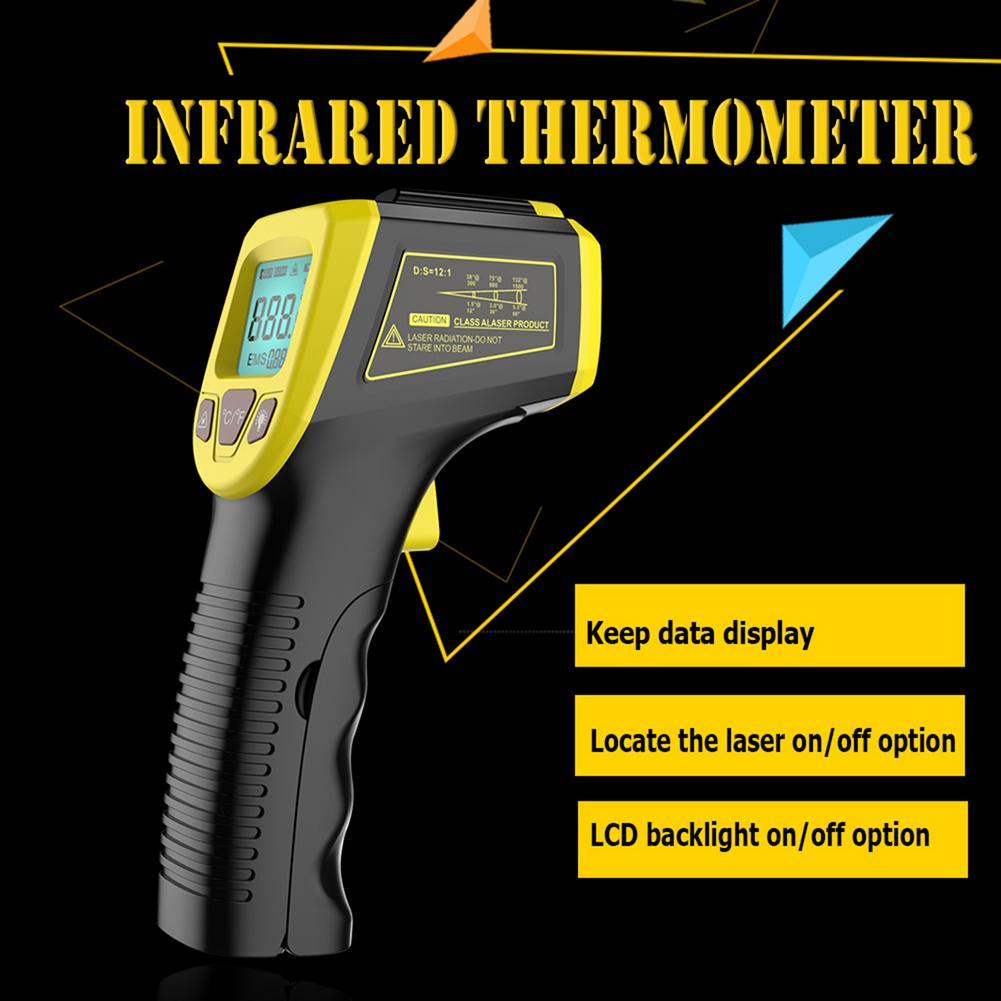 Цифровой инфракрасный термометр Бесконтактный лазерный ИК температура ЖК дисплей пистолет пирометр тестер промышленный температурный инструмент|Приборы для измерения температуры|   | АлиЭкспресс