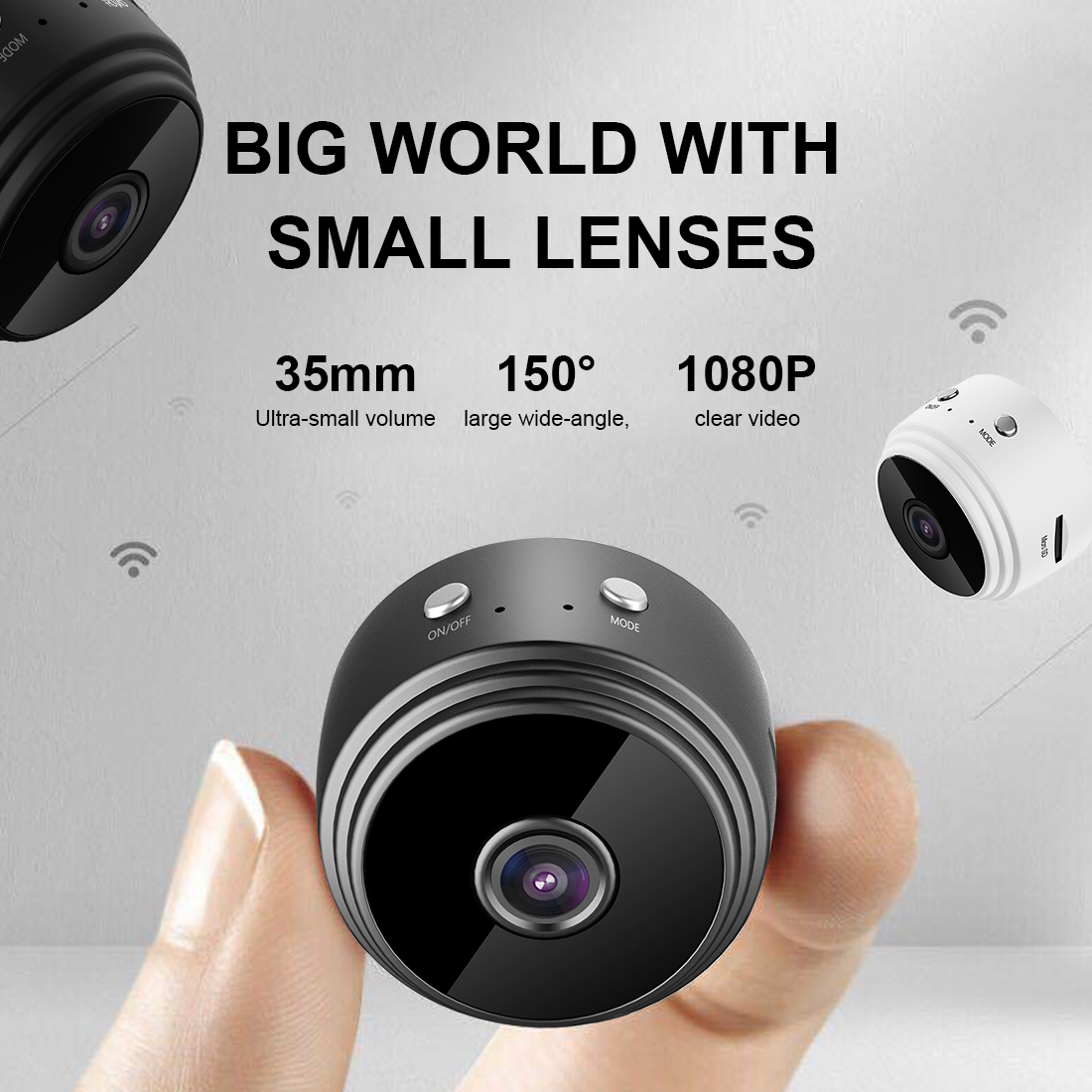 1080P Mini Wireless Camera A9 Wifi Camera Home Security Surveillance Camera Motion Detection IR Night Vision App Remote Monitor