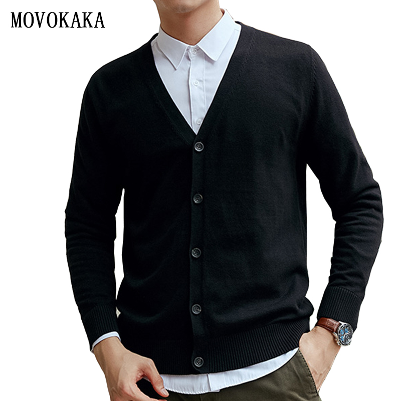 Autumn Winter Cotton Cardigan Sweater Men Knitted Sweater Male Long Sleeve Sweaters Tops Casual Sweater Man Cardigan Outwear Man