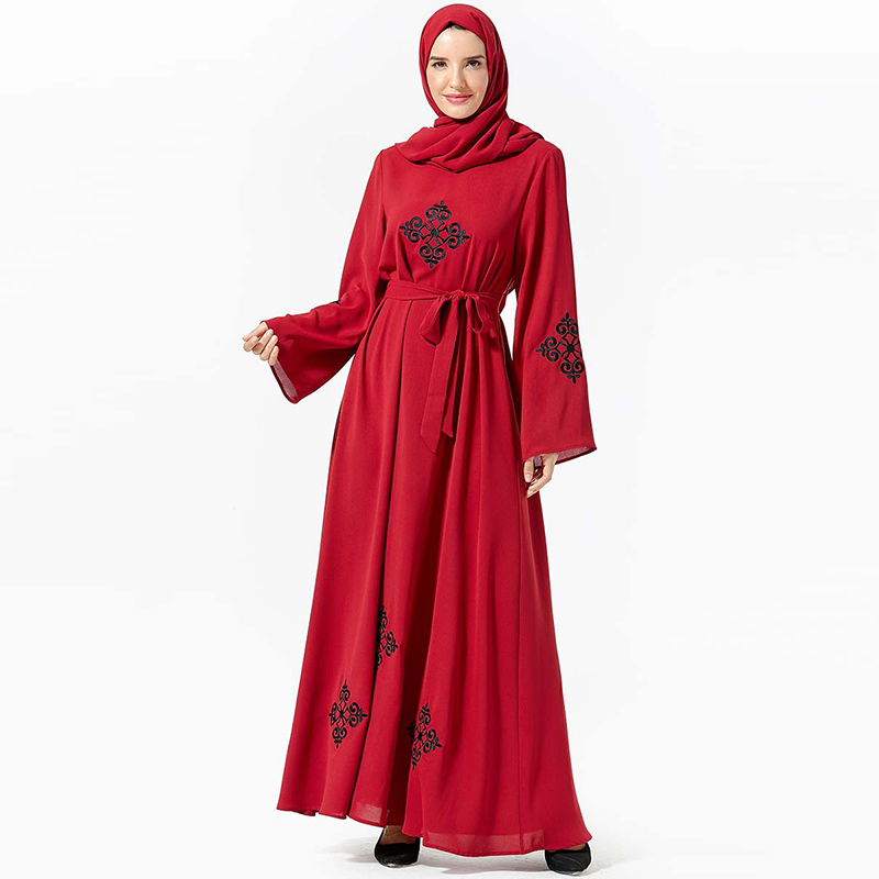 2019 Abaya Dubai Turkish Hijab Muslim Dress Kaftan Islamic Clothing Caftan Marocain Robe Musulmane Islam Jilbab Tesettur Elbise