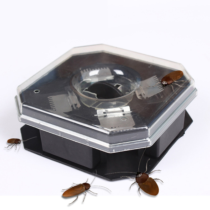 Reusable Plastic Pest Traps Non-Toxic Eco Cockroach Bug Roach Motel Catcher Catch Insect Pest Killer Bait Traps Pest Repeller