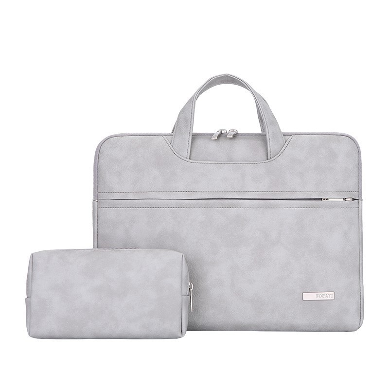 Women Leather Laptop Bags For Men Handbag Computer Case For Apple HP Dell Lenovo Acer Asus Sony Ipad Soft Plush Lining