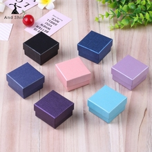 Andshiny 5*5*3cm Purple Earring Box Of Blue Earrings Black Box Fit Fine Jewelry Box Ring Box Cover Mother's Day Jewelry Gift Box