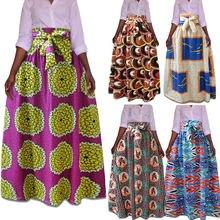 Женская эластичная юбка с высокой талией в африканском стиле