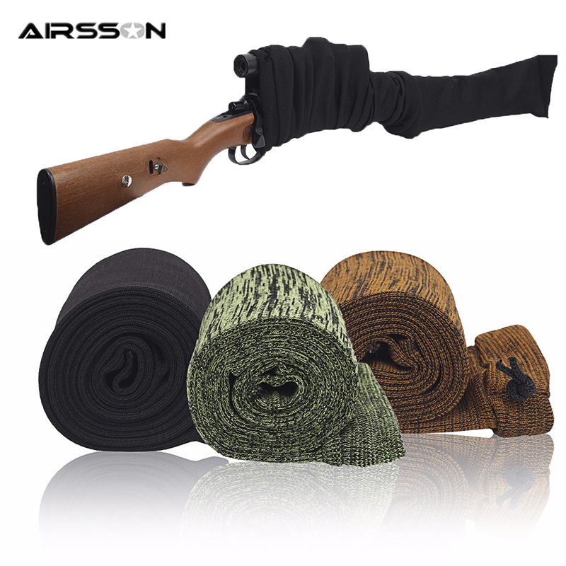 """54"""" Airsoft Rifle Gun Sock Case Dustproof Silicone Treated Knit Protection Sock Holster Tactical Gun Shooting Hunting Accessory"""
