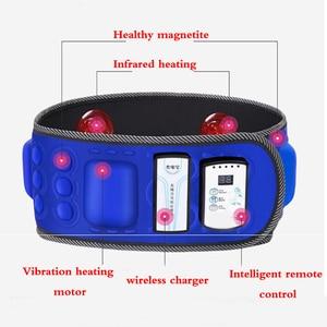 Image 3 - Correia abdominal infravermelha elétrica da cintura de 110 240v para perder peso massageador da aptidão vibração barriga queimar gordura dieta equipamento
