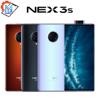 New Original vivo Nex 3S Mobile Phone 6.89 inch Unbounded Waterfall Screen 8GB+256GB Snapdragon 865 Camera 64.0MP NFC Smartphone