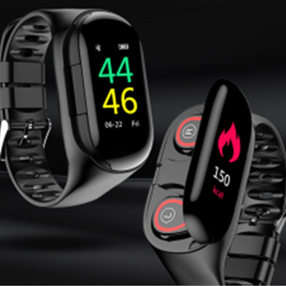 696 Smart Watch T88 With Bluetooth Earphone Heart Rate Monitor Smart Wristband Long Time Standby Sport Watch PK T89