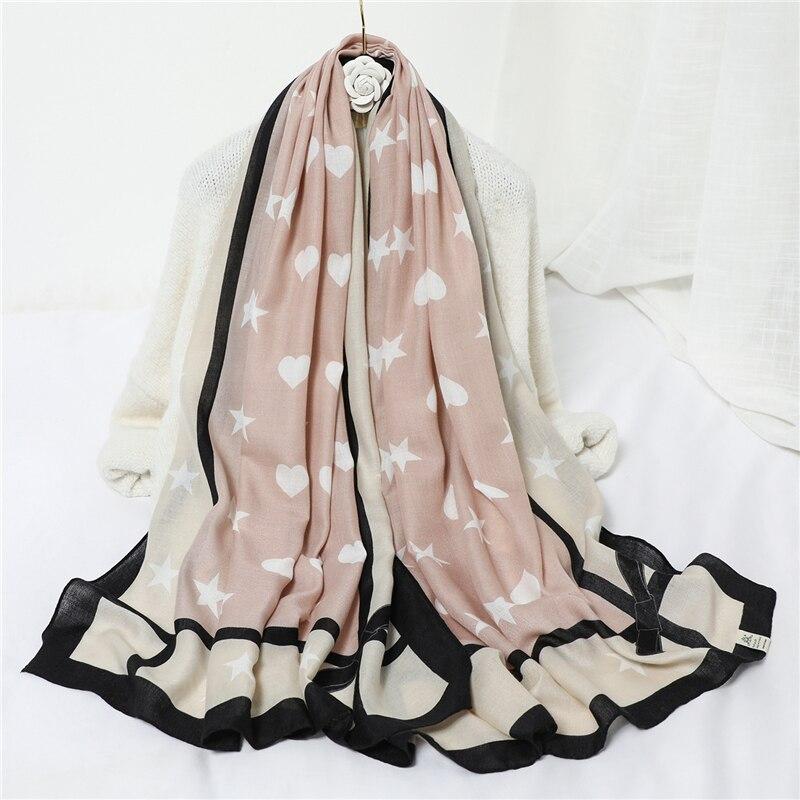 2020 Spring Winter Women Scarf Warm Cotton Print Luxury Brand Shawls For Lady Pashmina Bandana Foulard Headband Hijabs Scarves