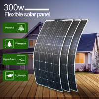 12v 300w mono solar cell flexible solar panel 300 watt 16v 100w 3pcs solar panels for 12V Car Battery Charging Boat Home