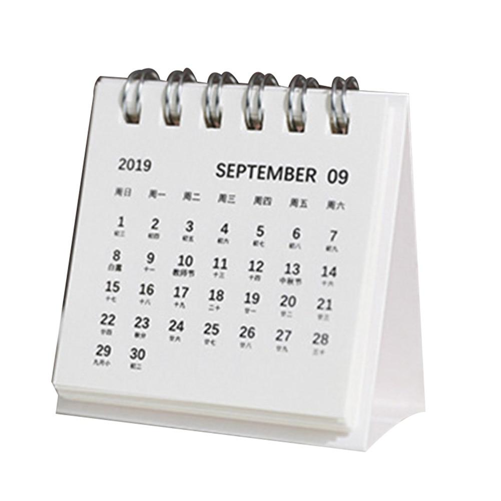 2020 New Year Mini Desk Calendar Simple Desk Coil Notepad Kraft Paper Calendar Daily Schedule  JFlyer