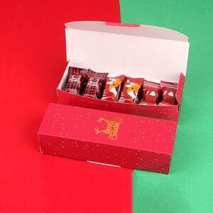 Image 2 - LBSISI Đời 5 Chiếc Kẹo Bánh Quy Bánh Nougat Hộp Giấy Cảm Ơn Bạn Giáng Sinh Vui Tay Hộp Quà Tặng