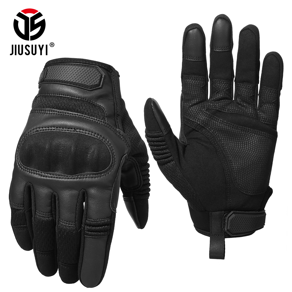 Image 3 - Tactical Military Full Finger Gloves Leather Airsoft Army Combat Touch Screen Anti Skid Hard Knuckle Protective Gear Gloves Men-in Men's Gloves from Apparel Accessories on AliExpress
