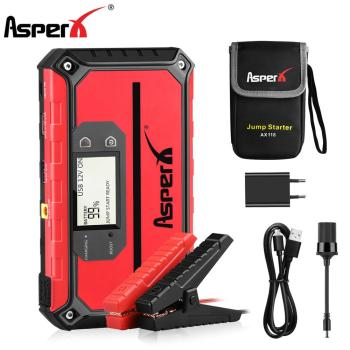 AsperX 12V Car Jump Starter Emergency Power Bank Battery 18000mAh Car Booster Buster Vehicle Starting Device With Flash Light baseus car jump starter power bank 12v auto starting device 800a car booster battery jumpstarter emergency buster jumper start