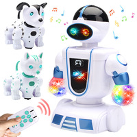 On Behalf of the Electric Universal Intelligent Robot Remote Control Dogs And Cats Music Lights Voice Touch Educational Toy