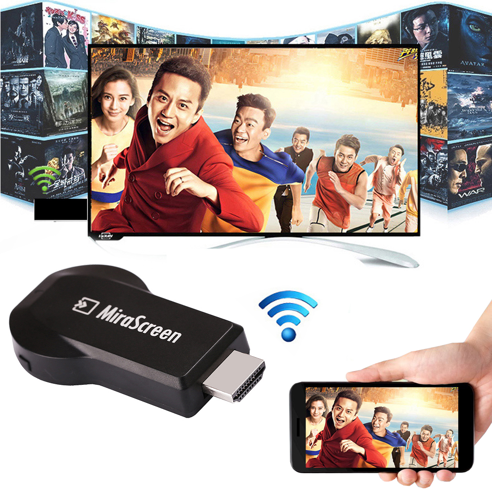 Mirascreen Miracast Wireless Hdmi Hdtv Video Adapter Wifi Screen Share Dongle For Iphone XS MAX XR Huawei Xiaomi Android To Tv