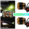 IR Sensor LED Headlamp Zoomable Induction Fishing Headlight 18650 Battery Hand Free Rechargeable T6 Head Lamp Lantern 3 5LEDs promo