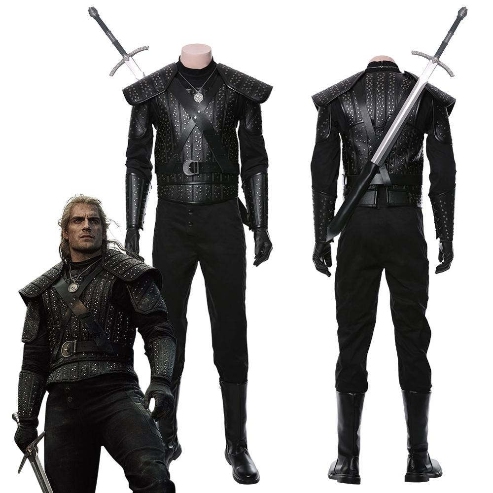 The Cavill Cosplay Costume Full Set Adult Men Women Halloween Carnival Party Cosplay Costumes Custom Verison 2