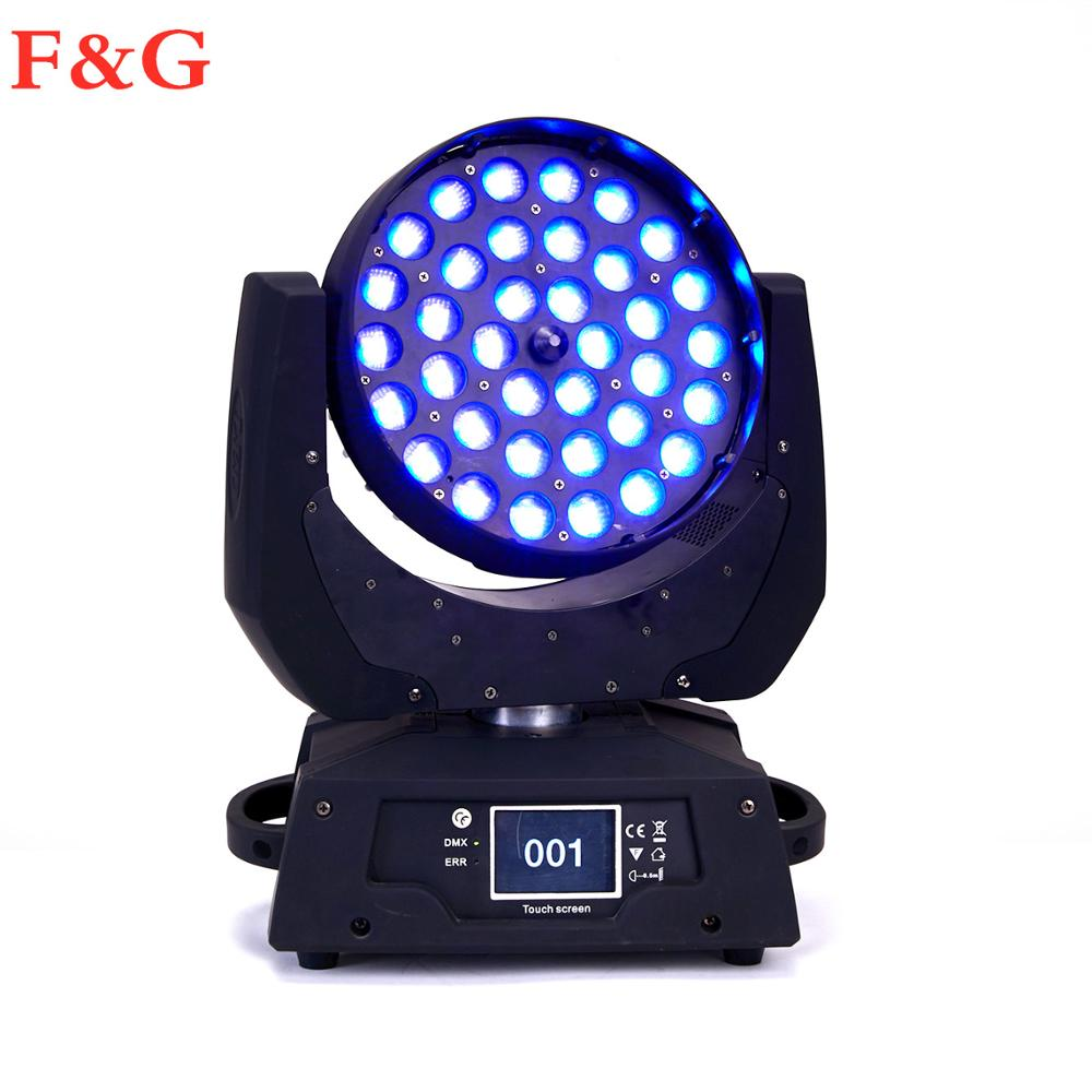 F&GLED Par Zoom Wash Moving Head Light 36x18W 5IN1 DMX Touch Screen LED Stage Light Lighting RGBWA For DJ Party KTV Disco And Cl