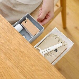 Self-adhesive Under Desk Drawer Makeup Organizer Desktop Sundries Storage Box School Stationery Supplies Pencil Tray Hot Sale #4