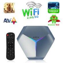 A95X F4 TV BOX Android 10.0 smart tv 8k Set-top box 2.4G/5G WiFi Bluethooth Smart Android Tv box 64GB 128G Google Youtube Play
