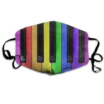 Colorful Piano Music Rainbow Great Dust Mouth Mask Reusable Anti-Dust Face Mask Adjustable Earloop Skin Protection dust face mask anti dust cover protection cover face sheild plastic mask prevent droplets reusable protection face h53