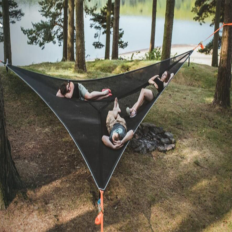 2/3m PortableMulti Person -Hammock -Triangle Aerial Mat -Hammock Tree House Air Sky Tent Drop Shipping