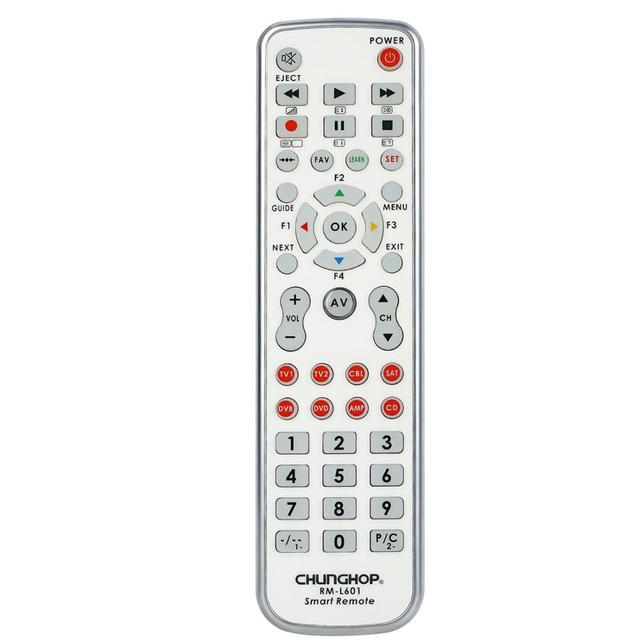 Chunghop קומבינטוריים שלט רחוק ללמוד מרחוק עבור הטלוויזיה SAT DVD CBL DVB T AUX האוניברסלי בקר עם קוד RM L601 תאורה אחורית