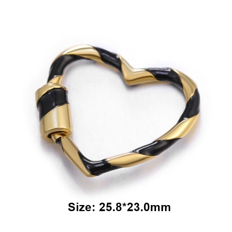 Juya DIY барокко ювелирные изделия застежки поставки роскошный винт спираль застежка застежки для рукоделия натуральные камни жемчуг ювелирных изделий - Цвет: Gold