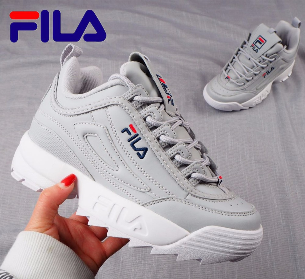FILA Disruptor II 2 New Women Running Shoes Female Sports Shoes Non Slip Damping Summer Outdoor Size 36-44