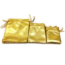 50Pcs Golden Necklace Bracelet Ring Jewelry Bag Wedding Party Gift Free Shipping(China)