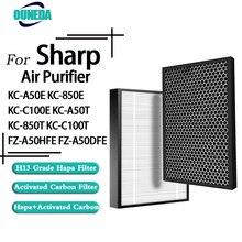 Para sharp FZ-A50HFE FZ-A50DFE substituição hepa purificador de ar filtro carbono para KC-A50E kc850e KC-C100E KC-A50T KC-850T KC-C100T