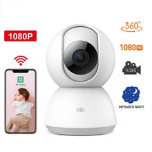 Original Xiao mi mi jia 360 Grad Nacht Version IP Smart Kamera WiFi Stimme Baby Monitor Webcam Für mi Hause -globale Version wireless cam(China)
