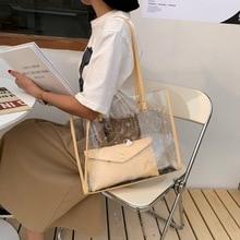 Son-Bag Single-Shoulder-Bag Transparent Women's Fashion Summer And PVC Net Foreign-Style