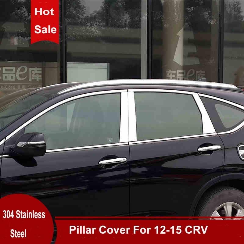 6pcs Nerezová ocel pro všechna středová okna Kryt sloupku pro Honda CRV CR-V 2012 2013 2014 2015 2016 Příslušenství