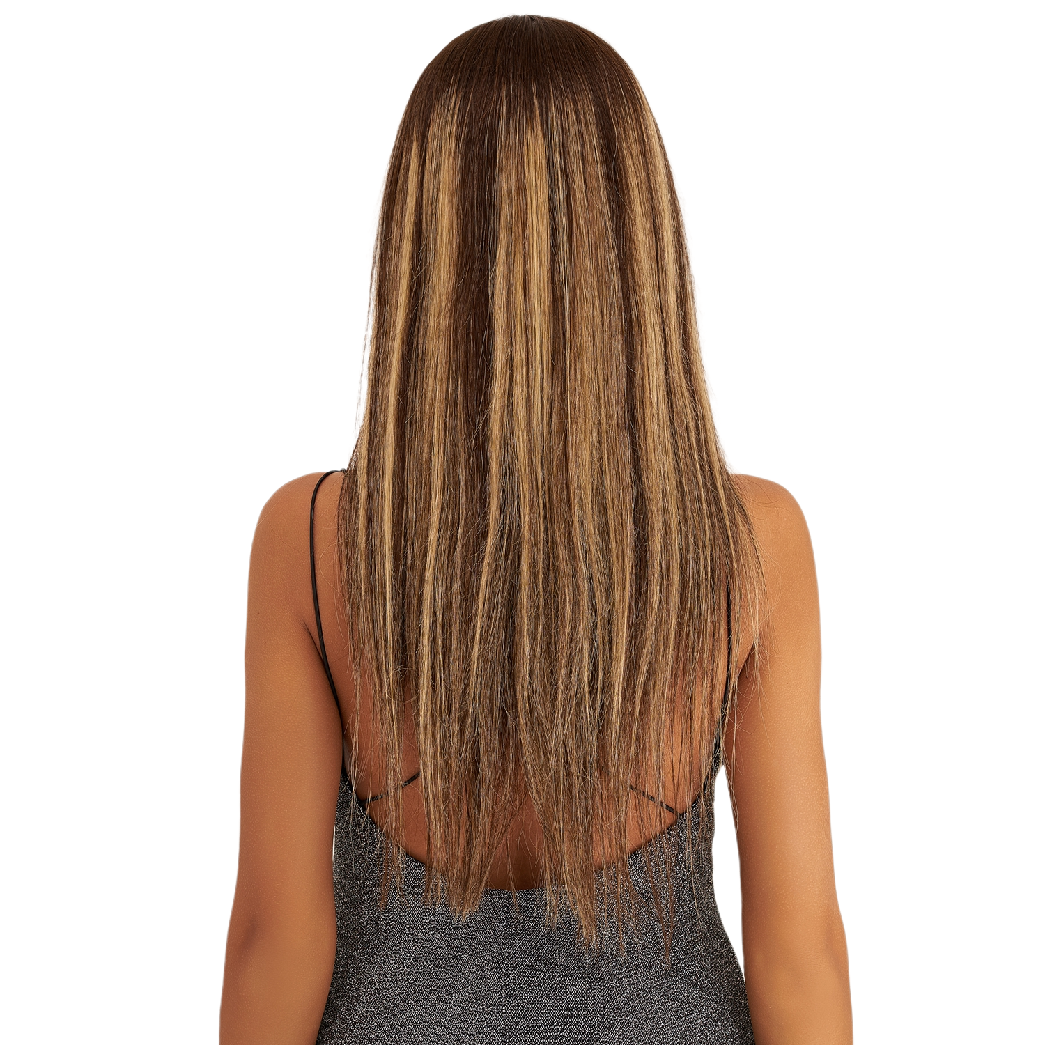 MW Pre Plucked Remy Human Hair Half Lace Wig 20 Inches 50cm Long Straight Ombre Frontal Wigs For Women FedEx Free Shipping